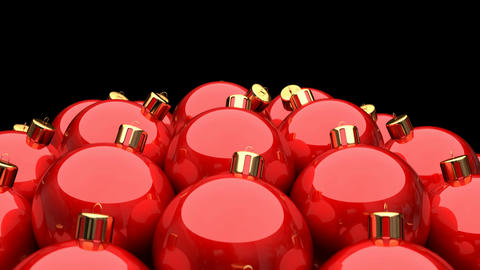 Seamless looping 3D animation of red Christmas balls Animation