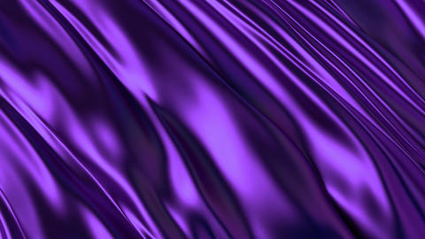 Purple silky waving backdrop 3D animation Animation