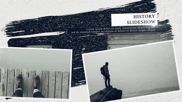History Slideshow After Effects Templates