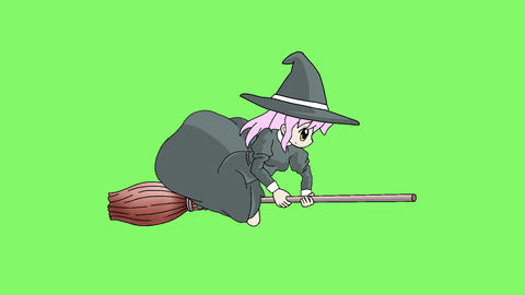 Fly witch 1 Animación
