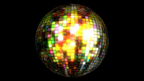Disco ball looping 3D animation with alpha matte Stock Video Footage