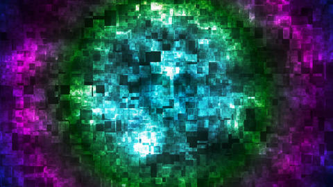 Broadcast Hi-Tech Squared Shifting Patterns, Multi Color, Abstract, Loopable, 4K Animación