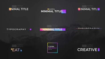 Color full Titles Plantilla de After Effects