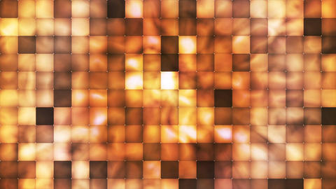 Broadcast Abstract Hi-Tech Smoke Tile Patterns, Brown Orange, Loopable, 4K Animation