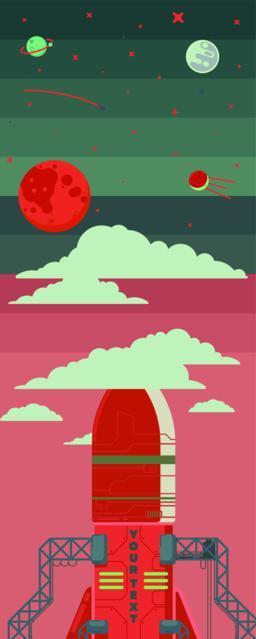 Rocket ship illustration Vector