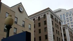 USA Virginia Norfolk West Plume Street modern facades of business buildings Archivo