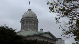 USA Virginia Norfolk dome of MacArthur Memorial against grey sky Footage