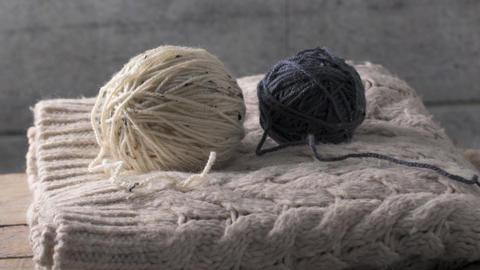Knitting needles and yarn Image
