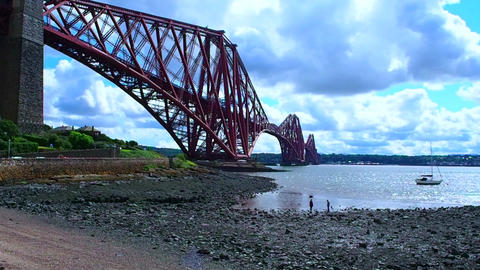 Forth Bridge, Scotland Footage