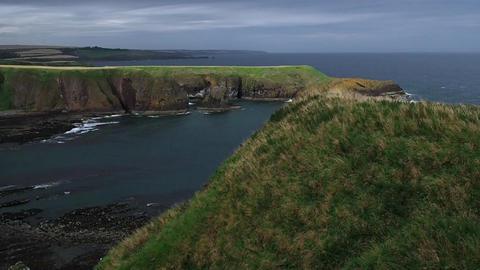 Cliff of Dunnottar Footage