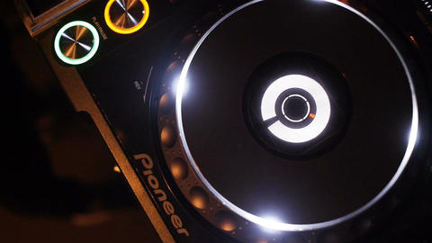 Slow Motion Musical Plate Rotates on Equipment Sounding Music Footage