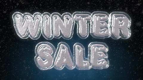 Winter Sale 3D Text Looping Animation 画像