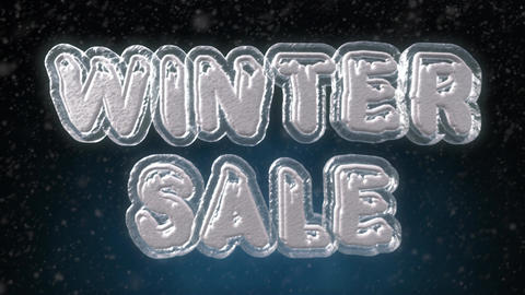 Winter Sale 3D Text Looping Animation Footage
