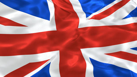 National flag of the United Kingdom of Great Britain 3D looping animation Animation
