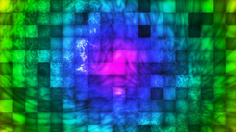 Broadcast Abstract Hi-Tech Smoke Tile Patterns, Multi Color, Loopable, 4K Animation