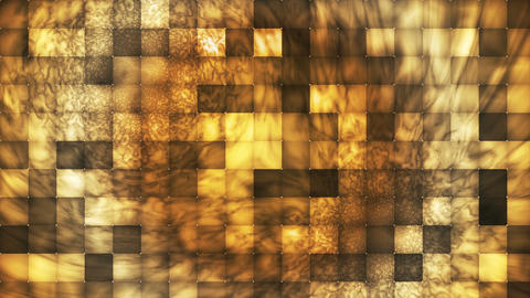 Broadcast Abstract Hi-Tech Smoke Tile Patterns, Yellow Brown, Loopable, 4K Animation