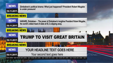 Modern breaking news graphic pack After Effects Template