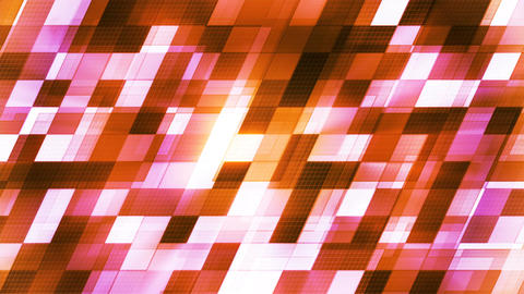 Twinkling Hi-Tech Slant Squared Light Patterns, Orange, Abstract, Loopable, 4K 애니메이션