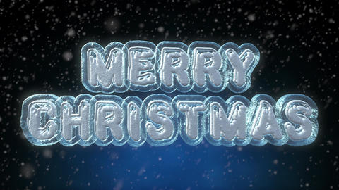 Merry Christmas 3D Text Looping Animation 画像