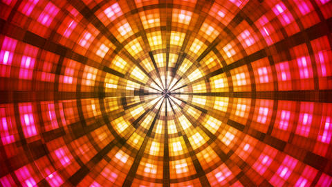 Twinkling Hi-Tech Grunge Flame Tunnel, Red Yellow, Industrial, Loopable, 4K Animation