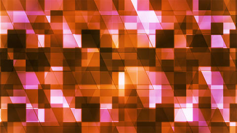 Twinkling Hi-Tech Squared Diamond Light Patterns, Orange, Abstract, Loopable, 4K Animation
