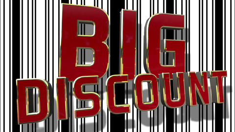 Big Sale 3D Text Looping Animation Footage