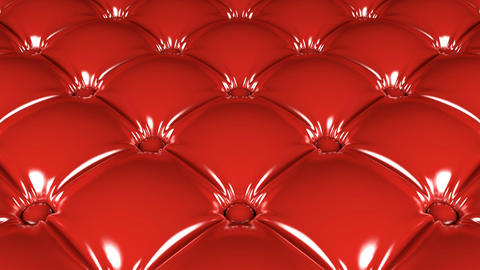 Quilted red latex pattern 3D animation Animation