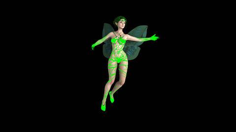 Fairy flies -channel alpha, animation Footage