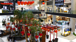 Shopping Mall interior Footage