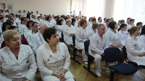 Symposium of doctors and professors of science and medicine Footage