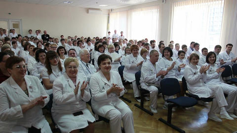 Symposium Of Doctors And Professors Of Science And Medicine stock footage