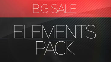 Big Sale Elements Pack After Effects Template