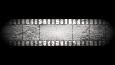 Grunge grey filmstrip video animation Animation