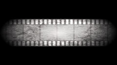 Grunge grey filmstrip video animation Animation