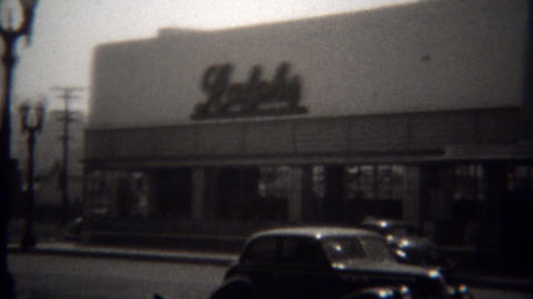 1946: Downtown Ralphs grocery store flagship grocery store Footage