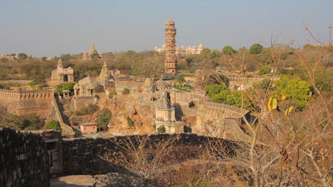 Chittorgarh fort. Rajasthan. India. December2015 Footage