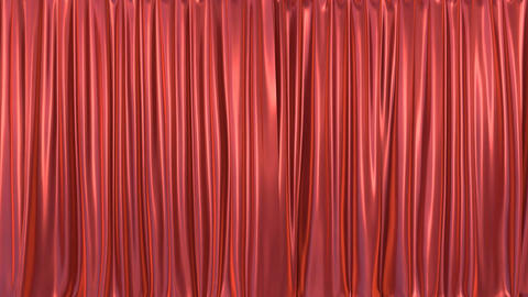Realistic 3D animation of the red curtain opening and closing Animación