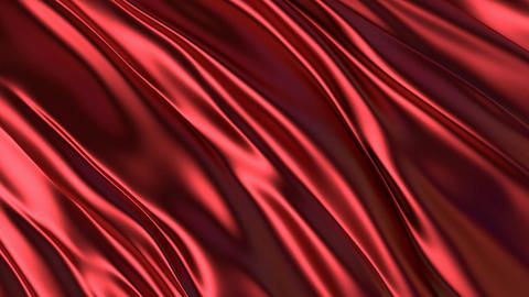 3D realistic animation of the red silky waving background Animation
