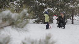 Mom and son make a snowman 14 ビデオ