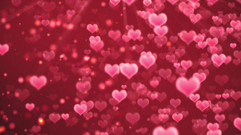 Romantic hearts background Bild