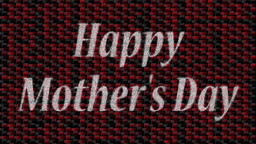 Decorative multicolor video with text Happy Mother's Day Animation