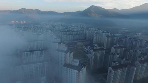 Fog in Daegu Technopolis Footage