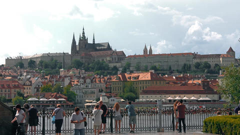 Prague, Czech Republic - JULY 2017: Architecture and traffic in Prague , Czech Footage