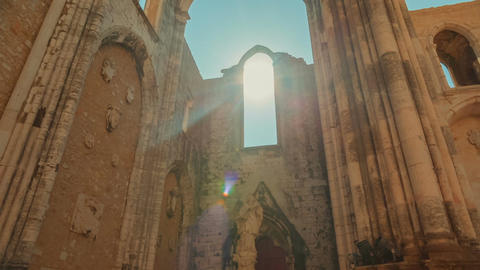 Convento do Carmo, Lisbon, Portugal Footage