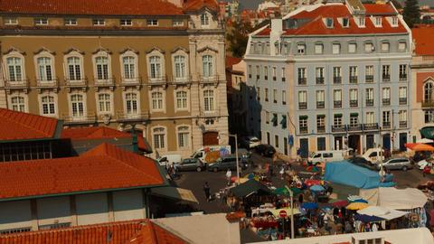 Feira da Ladra flea market, Lisbon, Portugal Footage
