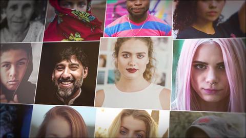 Mosaic Photo Reveal Premiere Pro Template