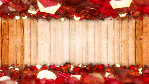 Valentine's day, An assortment of fine Chocolates, Loop Animation