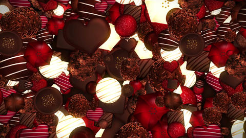 Valentine's day, An assortment of fine chocolates 動画素材, ムービー映像素材