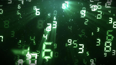 Many Numbers Background, CG animation, Loop CG動画素材