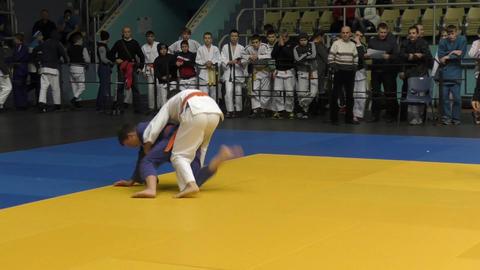 Orenburg, Russia - 5 February 2016: Boys compete in judo Image